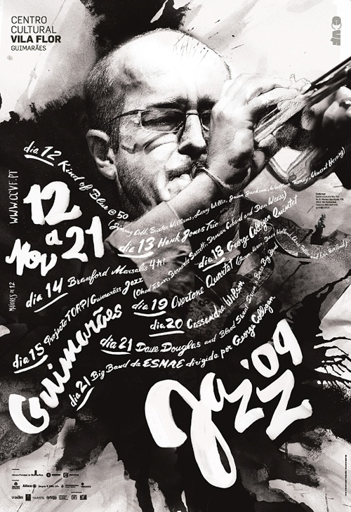 Guimarães Jazz Posters | feel desain #script #jazz #graphic #posters #poster #handwrite #music
