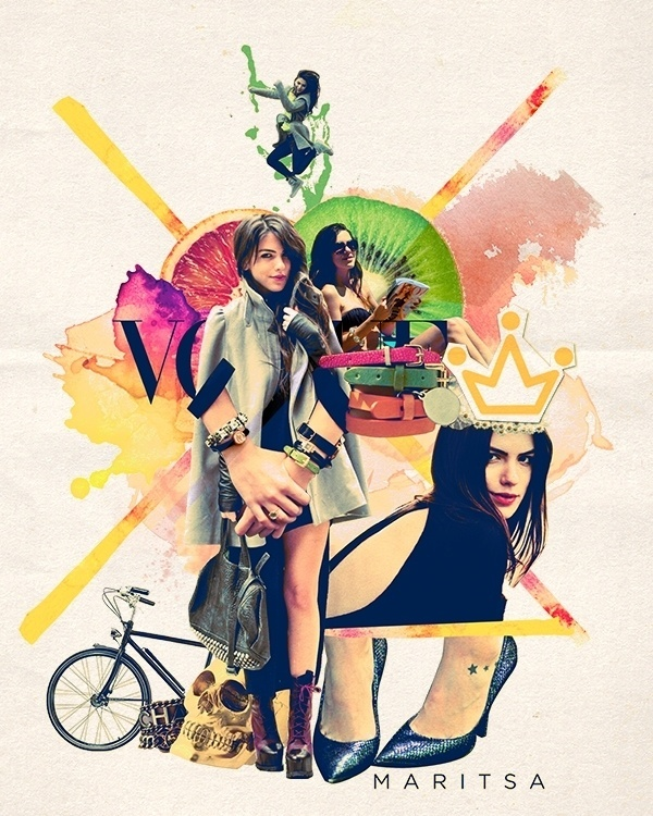 mixed-media collection fashion blogger of Maritsa - mustafasoydan #mustafasoydan #fashion #media #collage #mixed