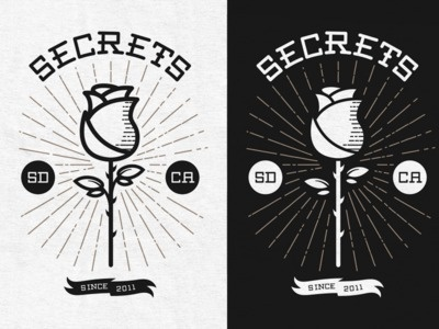 Secrets - Rose by Ethan Silva #logo #rose