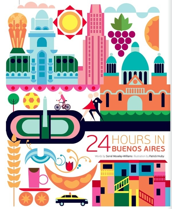 24 hours in Buenos Aires #argentina #design #illustration #buenos #aires