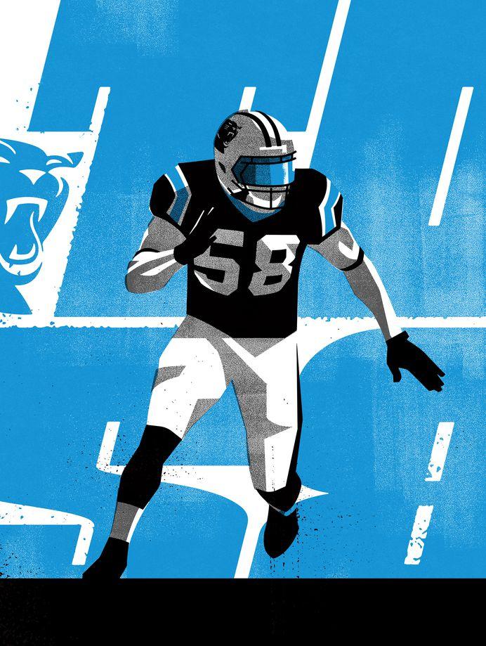 TD58 #Illustration by Matt Stevens #Sports #NFL #Carolina #Panthers #American #Football