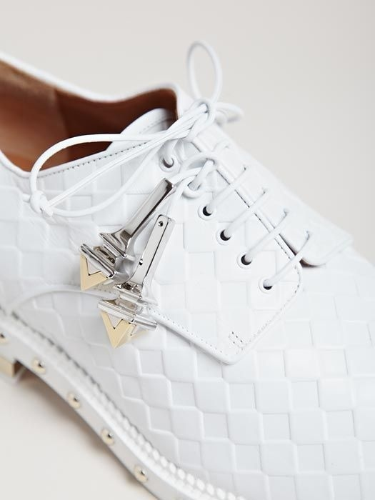 Givenchy, Womens Acity Lace Up Shoes #silver #white