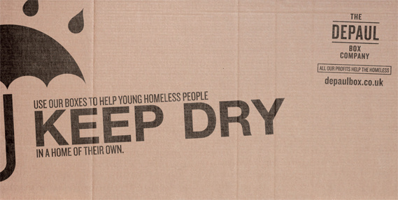 Depaul Box Company, 48 Sheet advertising campaign. #depaul #cardboard #uk #campaign #charity #box #advertising #company #the #message