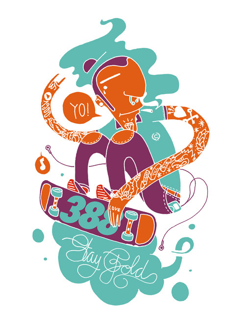 Stay Gold #illustration #skate #tattoo