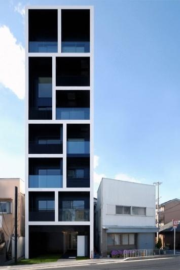 ASAP House #windows #architecture #blue #tower #japan