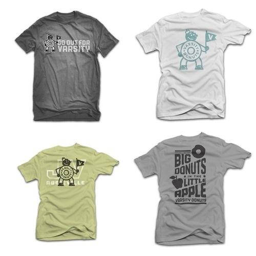 Matt Stevens // Creative Direction + Design - WORK BLOG - New Work: Varsity Donuts / Phase1 #stevens #matt #shirts