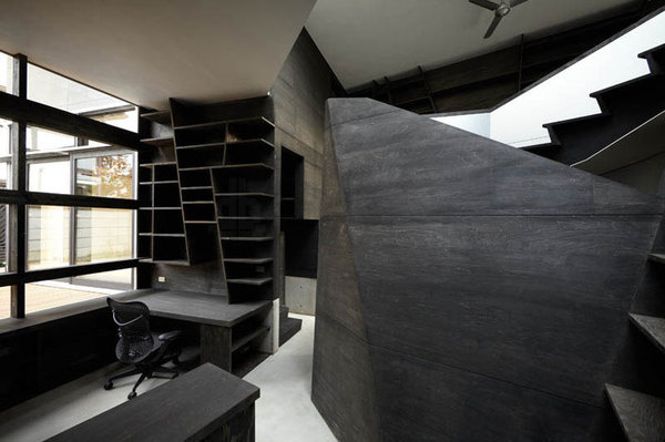 CJWHO ™ (architects atelier ryo abe | 'wishing well',...) #design #interiors #black #wood #tokyo #photography #architecture #japan