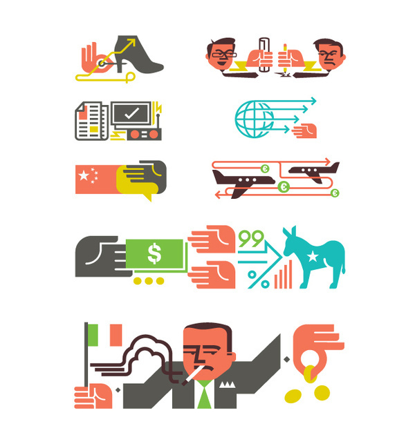 Monocle Illustrations / Icons Matt Lehman Studio #illustration #icons