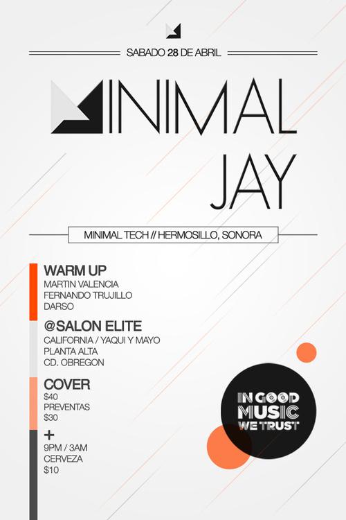 Minimal Jay Flyer - #white #flyer #design #orange #black #jay #minimal #poster