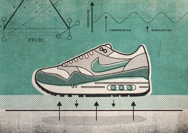 Nike Running Illustration by Matt Stevens for the Sole DXB in Dubai #nike