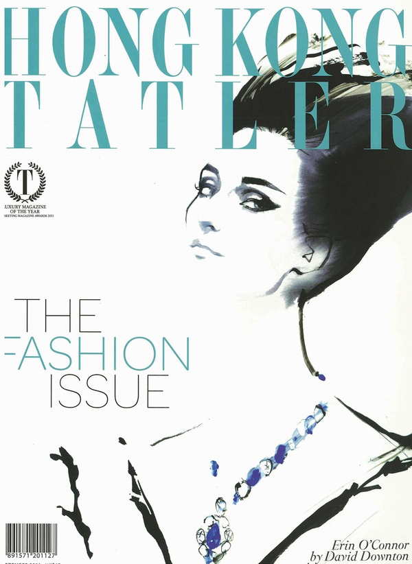 hong kong tatler david downton 2011 #downton #cover #illustration #fashion #david #drawing #magazine