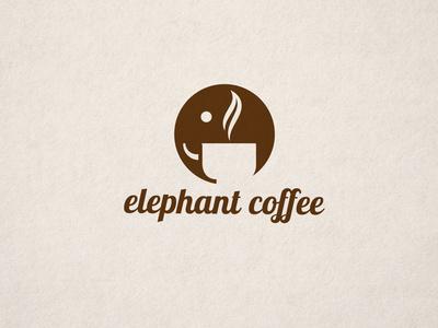 Negative Space Elephant Logo #logo #branding #identity