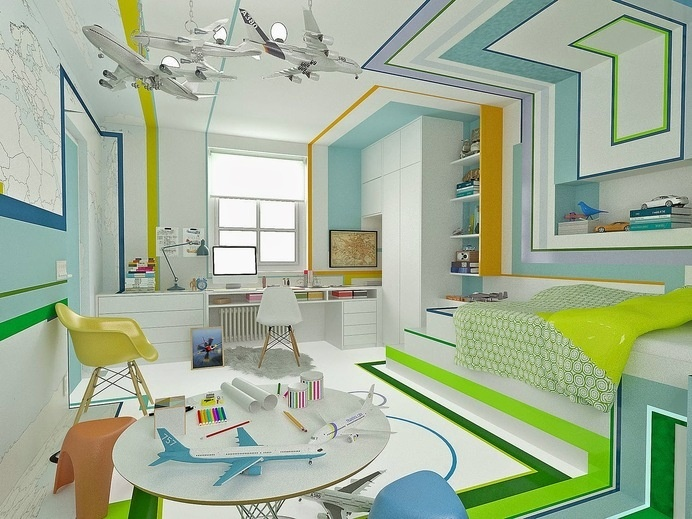 The Little Pilot by Brani Desi #interior #design #bedroom