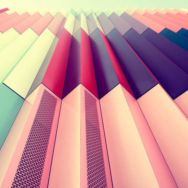 The Softly Saturated Palettes of Munich's Architecture #colour #geometric