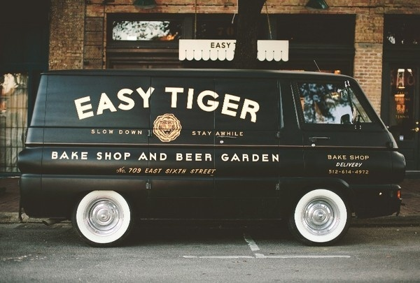 Easy Tiger Bake Shop and Beer Garden #easy #branding #design #logo #tiger
