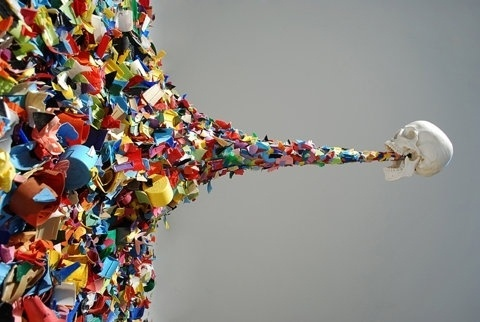 FFFFOUND! | Confetti Death at Street Anatomy #color #puke #oposite #skull #stuff