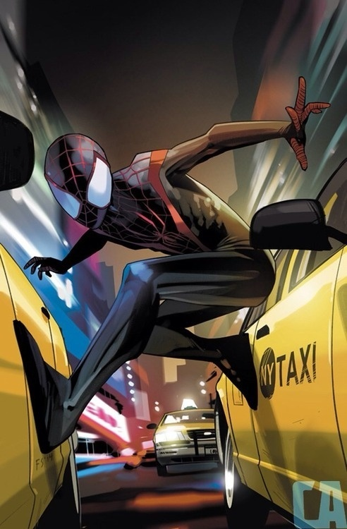 I did a variant cover for Ultimate Spider man #1 and Comics Alliance did a cool little write up about it: http://comicsalliance.com/fiona st