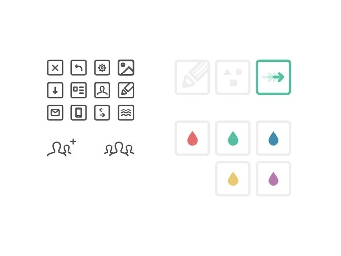 Icon set #flat #stroke #design #icons #web