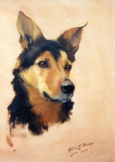 Nicola Jane Philipps (Nicky) | Portrait Commissions #portrait #painting #dog