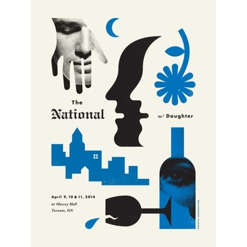 The National by Doublenaut #doublenaut #gig #the #illustration #poster #music #national