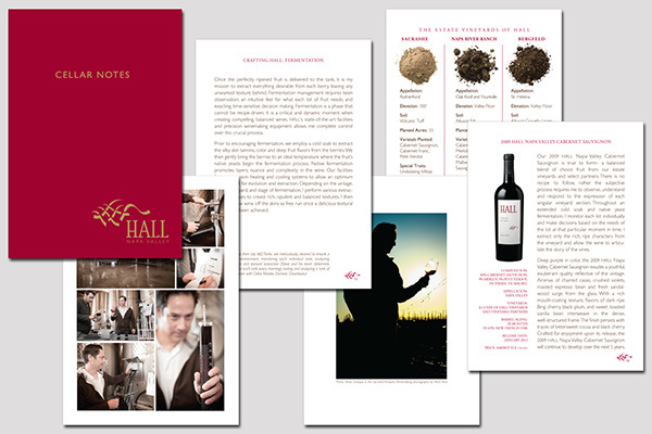 Winery Cellar Notes Brochure on Behance