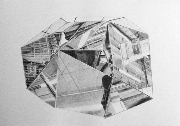 http://www.5piecesgallery.com/product/alexandra-pellissier-grand-littoral-1-serie-angles-mort #gallery #drawings #contemporary #art #artist
