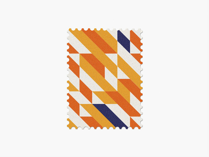 Netherlands #stamp #graphic #maan #geometric #illustration #minimal #2014 #worldcup #brazil