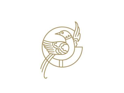 Greenhouse_monogram #monogram #logo #line #bird