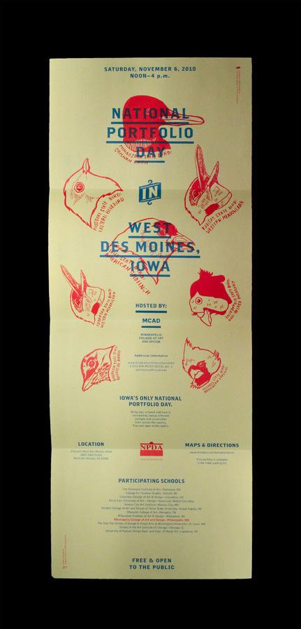 Iowa NPDA Poster/Mailer - Christopher Santoso #red #design #graphic #experimental #blue #native