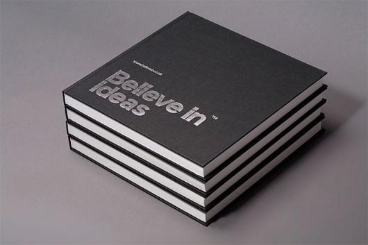 Believe in | Identity Designed #white #silver #print #in #black #sketchbook #believe #grid #stationery #foil