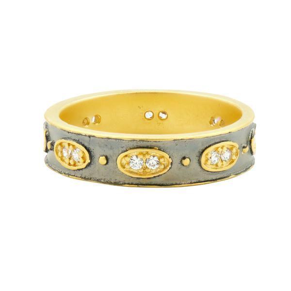 Wide Stack Ring – Freida Rothman | Price: $95.00 | Product details @ https://bit.ly/2zupwZd. Buy now! #Rings #Jewelry #Fashion #FreidaRothman #NYC #NewYork #Brooklyn