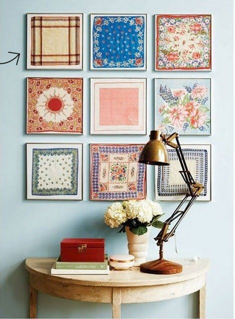 Colorful Accents: Framed Scarves / Apartment Therapy