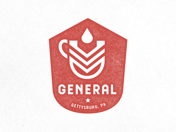 General Cafe #drink #print #design #logo #identity #type #layout #typography