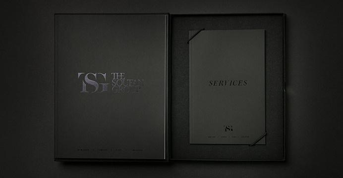 The Soufan Group Print Identity #print #black #branding