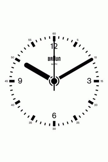 Dieter Rams Braun Clock #animated #braun #gif #rams #clock #dieter