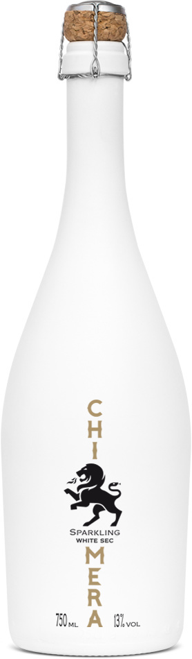 Chimera Sparkling Wine by Kommigraphics #packaging #design #silkscreen #minimal #champagne #cork