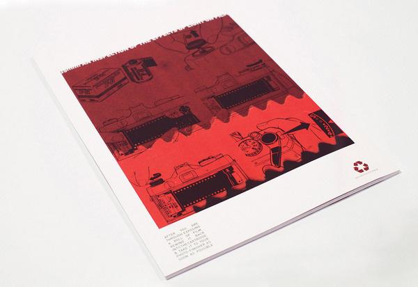 35mm Magazine Aaron Craig #red #zine #book #minimal #vintage #film #layout #typography