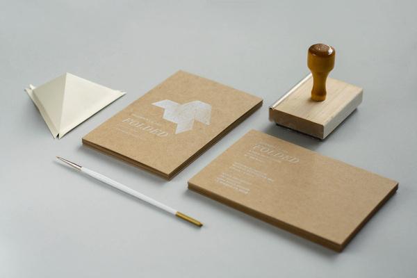 Folded Show Cards | Eva Black Design #business #geometric #identity #logo #cards