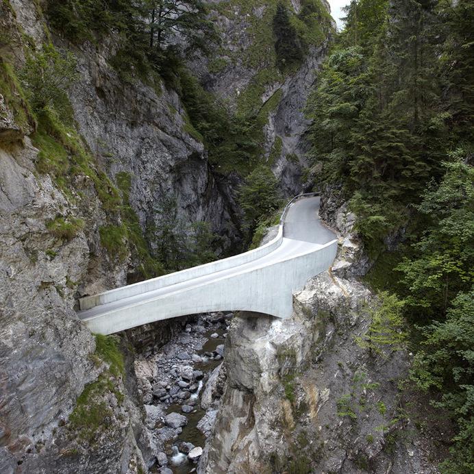 marte marte architekten arches schaufelschlucht bridge in austrian mountains #bridge