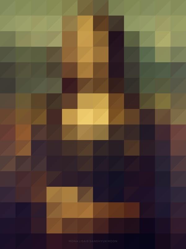 mona lisa #color #poster