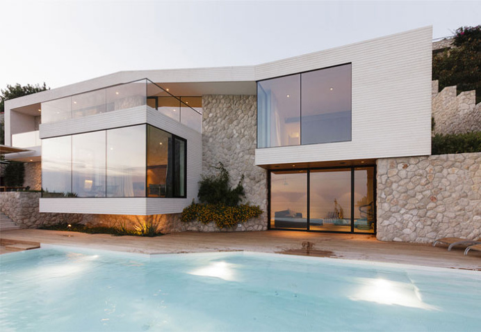 Mediterranean House with Large Glass Windows - #architecture, #house, #home, #interior, #homedecor,