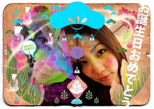 JPOP Japanese pop on the Behance Network #girl #pink #design #graphic #asian #kamon #blue #japan #flowers #green