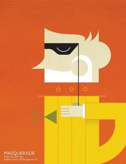 Justin Christopher Henry #vector #orange #masquerade #deco