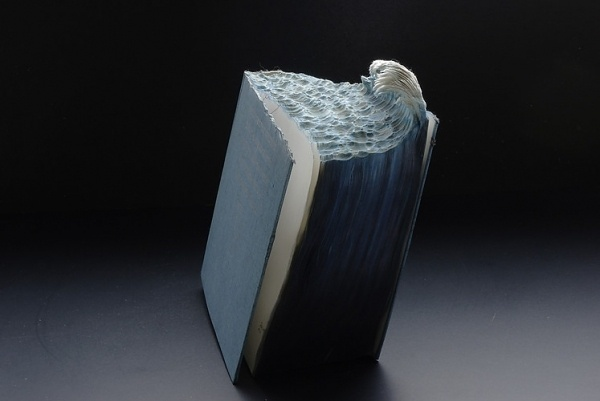 1   Carved Up Books Become Tsunamis, Volcanoes and Caves   Co.Design: business + innovation + design #yin #sculpture #laramee #guan #book #landscape #mixed #media #guy #tsunami