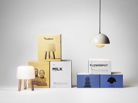 &Tradition - TheDieline.com - Package Design Blog #packaging #furniture #lamps