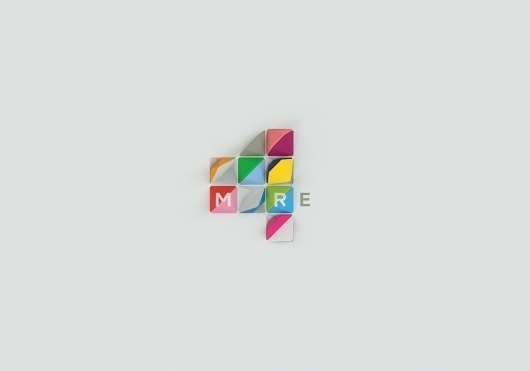 ManvsMachine: More4 — Collate #branding #redesign #colours #re #brand #triangles #channel #logo #more4