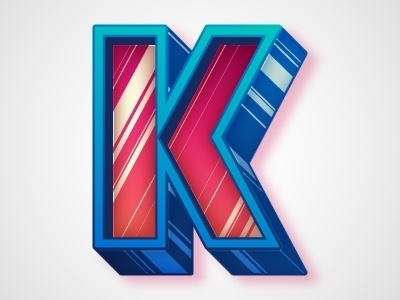 Dribbble - K by Chris Rushing #lettering #letters #letterforms #type #typography