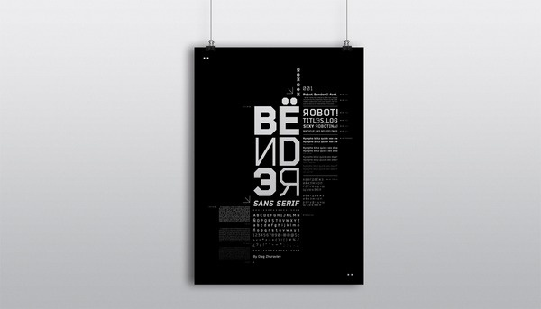 Bender Type - Poster #specimen #pickin #poster #type #bender