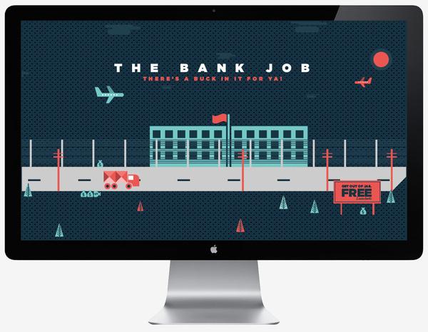 The Bank Job Illustration (Personal) on the Behance Network #illustration