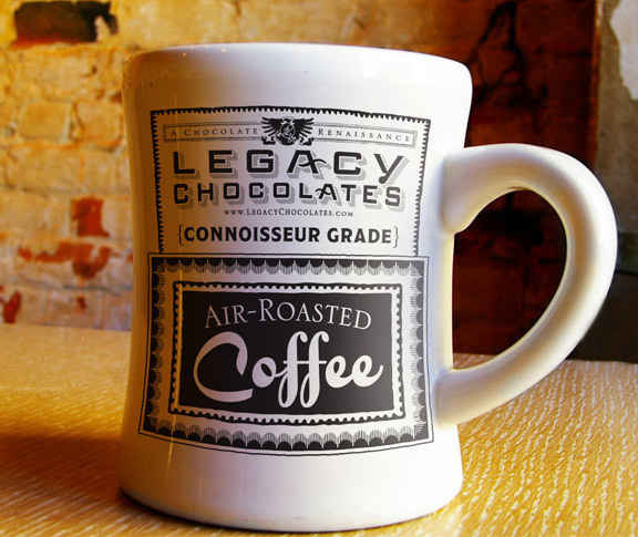 Legacy Chocolates Coffee CUP #coffee #package #design #branding